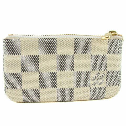 【奢華時尚】LV N62659 米白色棋盤格紋鑰匙包/零錢包 (全新) #4353