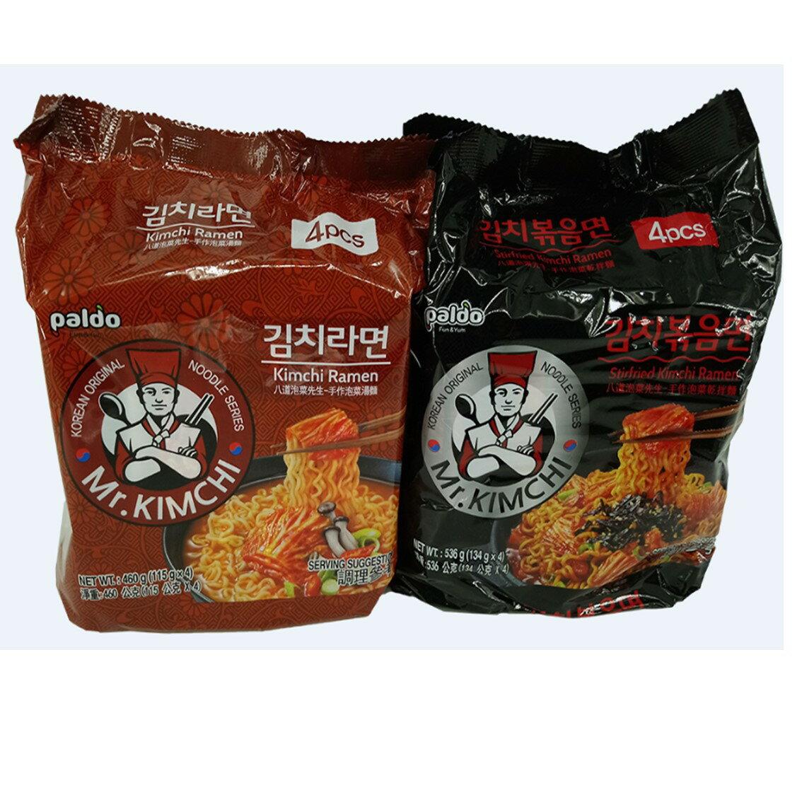 韓國 八道Paldo 泡菜先生手作泡菜湯麵/乾拌麵(4包入) 款式可選