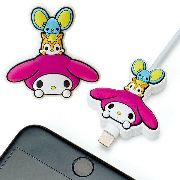 【真愛日本】18072400024充電線保護咬線器-MM朋友美樂蒂melody充電線保護保護咬線器裝飾