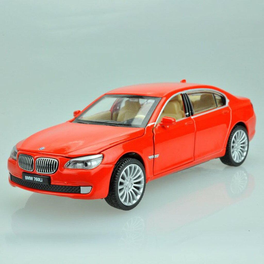 ╭。BoBo媽咪。╮彩珀模型 1:32 寶馬 BMW 760LI 聲光回力車
