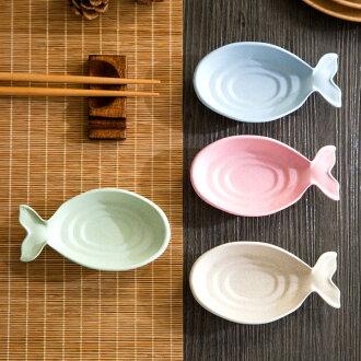 PS Mall 小麥秸稈魚形調味碟 小碟子【J445】
