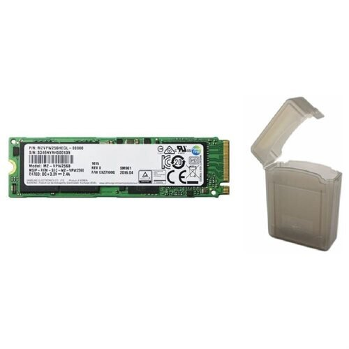 "Samsung SM961 256GB SSD 256G M.2 2280 PCIe Gen3 x4 PCI-Express 3.0 x4 NVMe 80mm Internal Solid State Drive MZ-VPW2560 + 2.5"" SSD case 0"