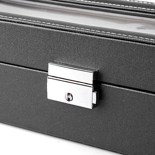 Watch Leather Box Lockable Jewelry Storage Organizer Case 0