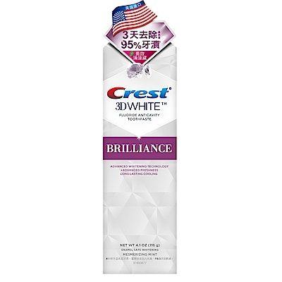 【美國Crest-3DWhite】專業鑽白牙膏116g(長效清新)