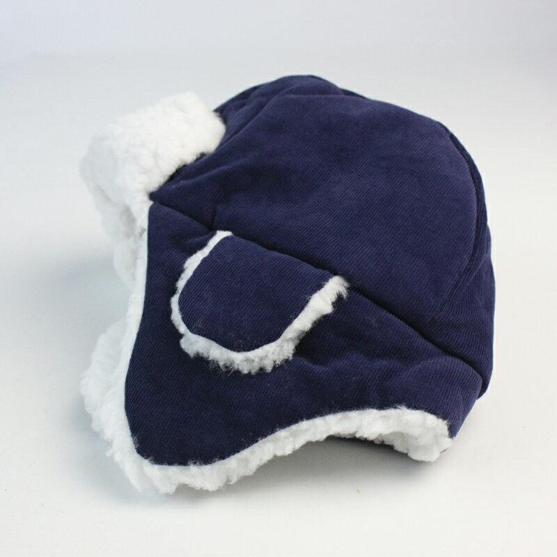 單秋冬季男孩兒童雷鋒帽純棉加絨舒適保暖帽護耳帽男小童童帽1入