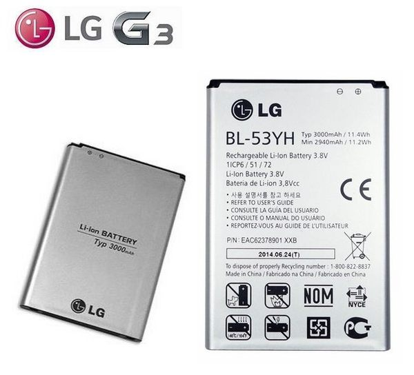 ~免 ~LG G3 BL~53YH~ 電池~G3 D855 D850 2940mAh^~3