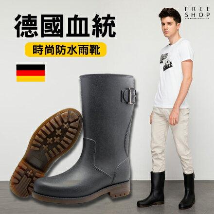 Free Shop 德國血統全地形型男中高筒雨鞋 防水雨靴 復古時髦防滑 街頭潮流英倫靴子
