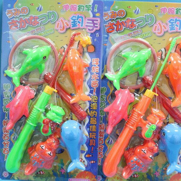 日系釣魚組 戲水童玩釣魚樂 D-589 小釣手釣釣樂(7件裝)/一卡入{促150}~生
