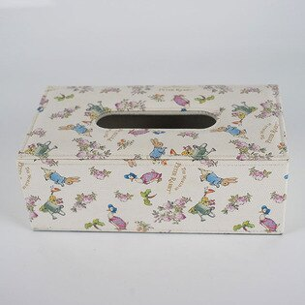 PeterRabbit比得兔面紙盒【皮革玫瑰】