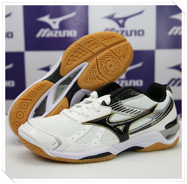 MIZUNO 美津濃 排球鞋Wave Stardom RX2(白*黑) 男女同款2014新品