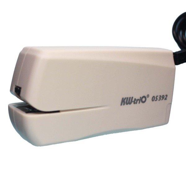 KW‑trio電動釘書機 10號針 05392/一台入(定1000) KW電動訂書機 電池&插電兩用 MIT製 2013台灣精品-欣