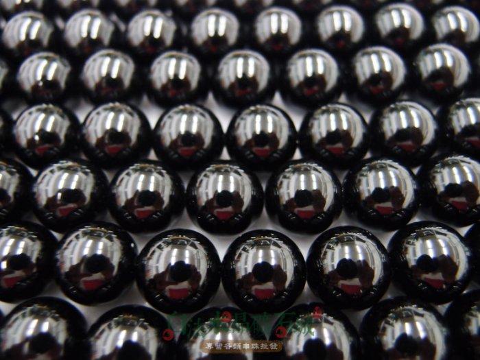 白法水晶礦石城    瑪瑙 老黑玉髓 黑瑪瑙 12mm 色澤-全黑 特級品 串珠/條珠 首飾材料