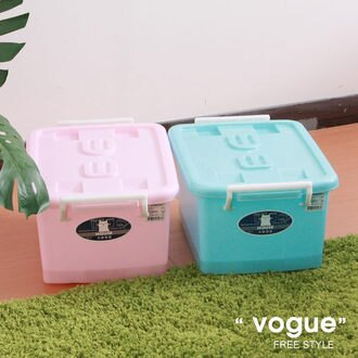 E&J【652068】Mr.box免運費,C300彩瓷滑輪整理箱SS12L*3入(兩色可選) 收納箱/收納袋/衣櫃/衣櫥