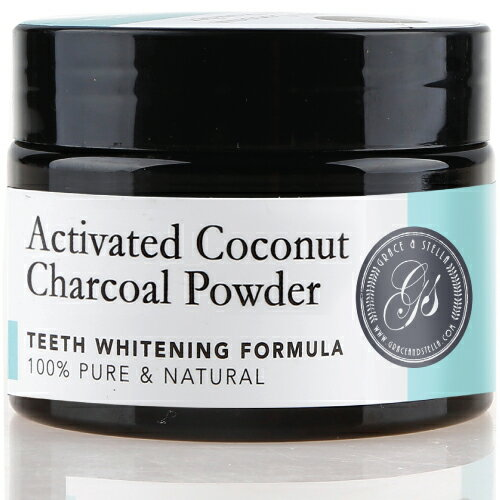 Activated Coconut Charcoal Teeth Whitening Powder by Grace & Stella Co. 0