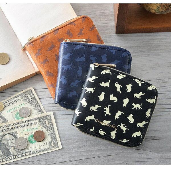 日本皮夾Depa-Garden甜美可愛貓咪圖案短夾女夾多卡夾多格設計GPG-70029-8