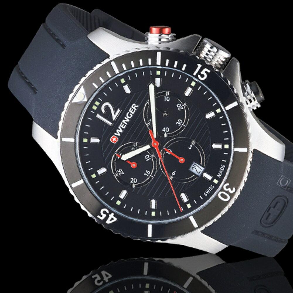 瑞士WENGER Seaforce海勢系列 征服怒海潛水腕錶 01.0643.108