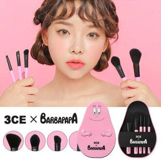 韓國 3CE BARBAPAPA 泡泡先生聯名 多功能刷具組 鐵盒 刷子 刷具組 蜜粉刷 腮紅刷 眼影刷 眉刷【B062680】