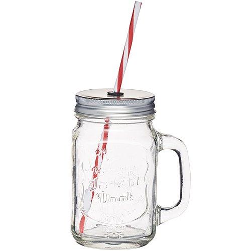 《KitchenCraft》單柄梅森玻璃杯(450ml)