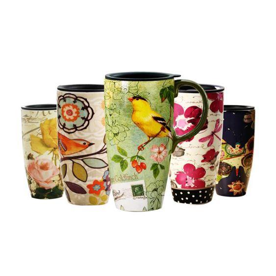 EVERGREEN/愛屋格林杯子創意帶蓋陶瓷馬克杯水杯大容量咖啡杯茶杯