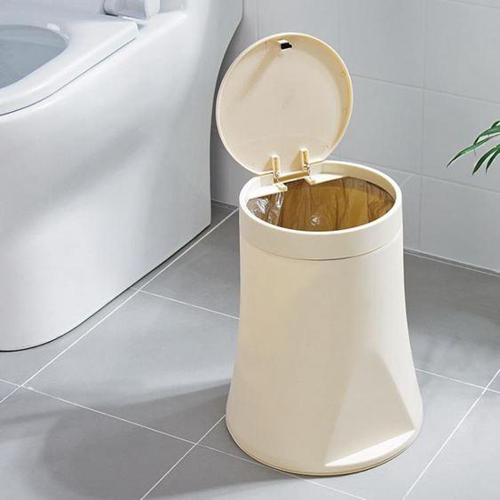 按壓式半自動換袋垃圾桶家用客廳垃圾簍衛生間有蓋垃圾筒