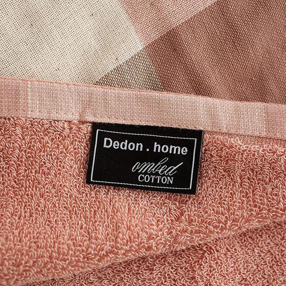 日式格子棉紗布浴巾柔軟吸水加大加厚家用成人浴巾男女士大毛巾