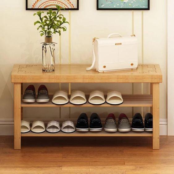 鞋架簡易家用鞋柜經濟型省空間換鞋凳防塵多層門口實木可坐小鞋架