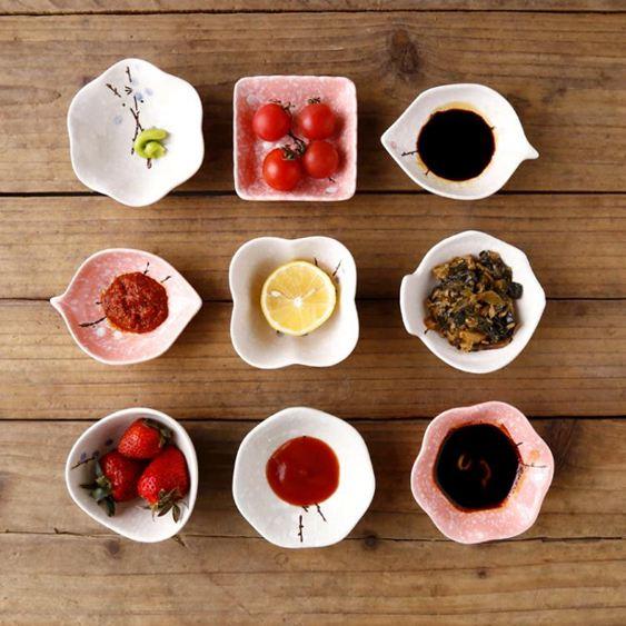 手繪日式餐具陶瓷味碟家用油碟醬醋小碟子日式調料小吃蘸料盤