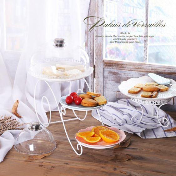 創意歐式三層蛋糕架雙層水果籃下午茶點心托盤婚慶糖果高腳臺