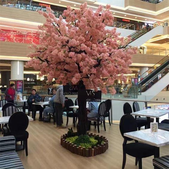 仿真櫻花樹許愿樹婚慶裝飾樹假櫻花樹大型酒店商場裝飾桃花