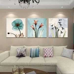 客廳裝飾畫現代簡約無框畫臥室壁畫沙發背景墻掛畫歐式抽象三聯畫jy