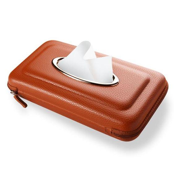 車載紙巾盒掛式掛遮陽板掛天窗車用紙巾盒汽車用品內飾車載抽紙盒