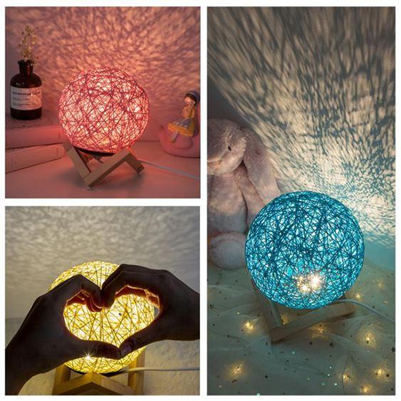 裝飾小夜燈臺燈創意燈飾ins房間佈置改造用品少女心臥室