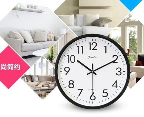 掛鐘現代簡約鐘錶掛鐘客廳臥室家用圓形電池數字時鐘掛錶壁鐘