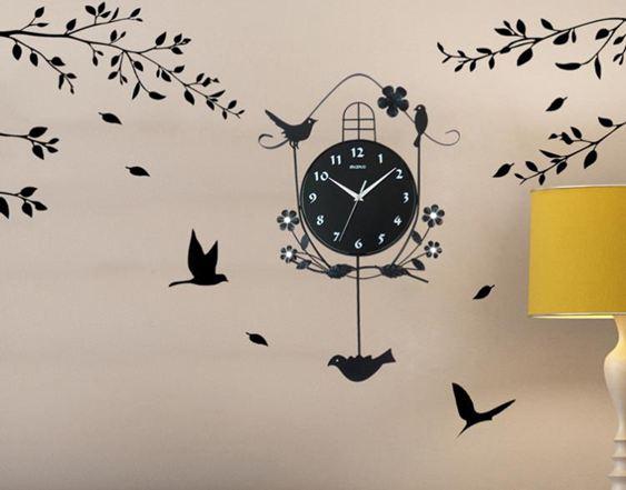掛鐘家用現代簡約鐘錶客廳掛鐘創意臥室北歐美式時鐘掛錶靜音個性裝飾