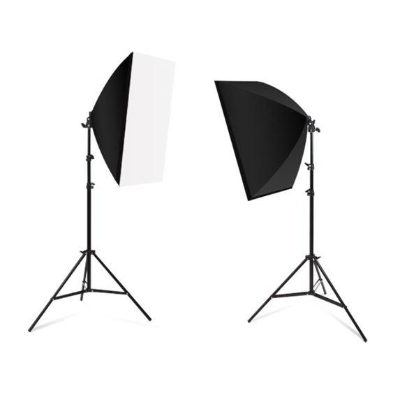 攝影道具105瓦攝影燈套裝LED專業柔光箱簡易微型小型攝影棚