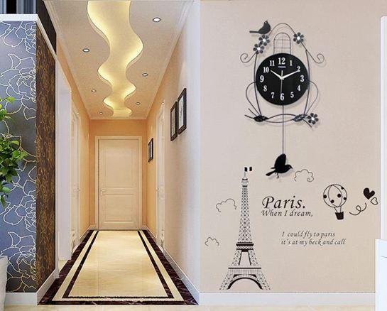 掛鐘鐘錶掛鐘客廳靜音個性家用小鳥時鐘創意現代裝飾大氣臥室搖擺掛錶