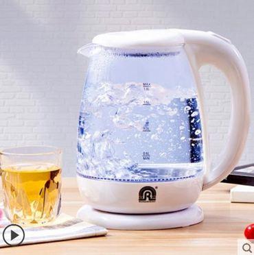 水壺容聲電熱燒水壺全自動斷電家用玻璃煮水養生快茶壺透明電壺煲小型衣間220V