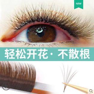 焦糖色睫毛嫁接山茶花一秒可開花磁性水貂毛自動開花自然超柔軟