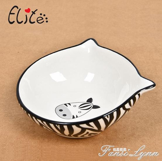 陶瓷貓碗狗碗貓飯盆貓糧碗貓碗狗飯盆水盆貓食盆大號斜口