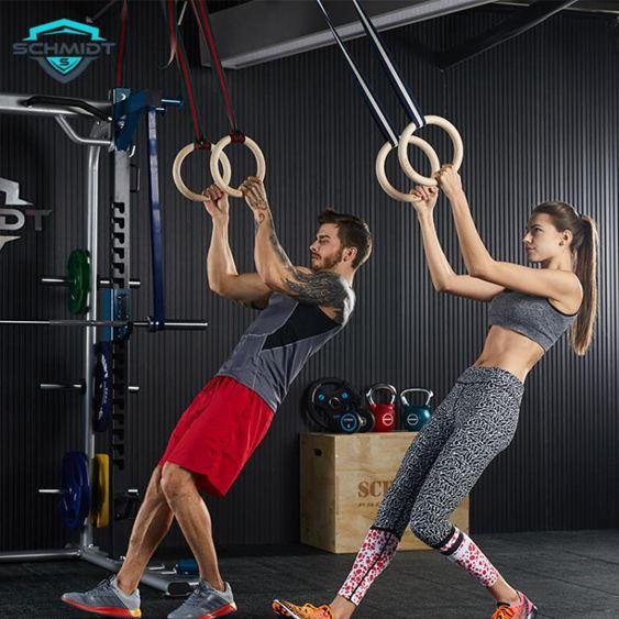 樺木吊環成人體操比賽訓練引體向上家用健身健身房