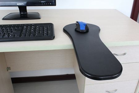 滑鼠手托架電腦托臂支架托肩架扶手電腦創意臂托護腕板桌面延長免打孔托盤