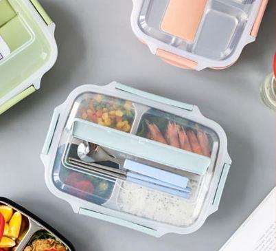 便當盒304不銹鋼保溫飯盒分格兒童小學生上班族便攜便當餐盒套裝