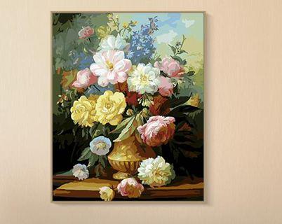 油畫diy易卓diy數字油畫上色水彩填充減壓成人手工填色畫手繪裝飾油彩畫七夕節