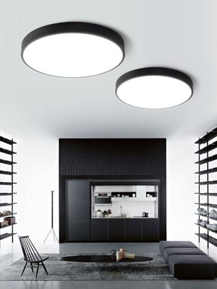 LED燈led吸頂燈圓形燈具客廳簡約現代大氣家用臥室燈辦公室陽臺吊燈飾