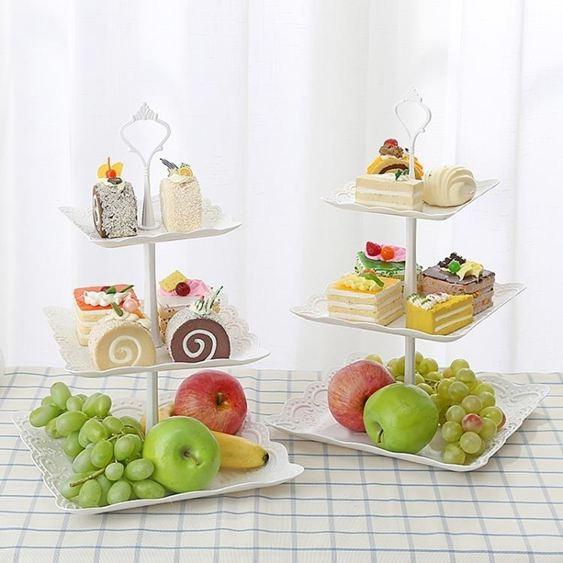 碟子水果盤甜品臺多層蛋糕架干果盤茶點心托盤甜品臺生日趴