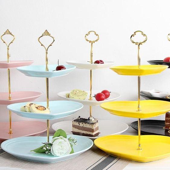 碟子瓷江湖陶瓷水果盤客廳下午蛋糕架零食茶點心甜品糖果托盤