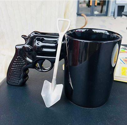 馬克杯創意潮流3D左輪造型陶瓷水杯抖音生日禮物帶把杯情侶男友子