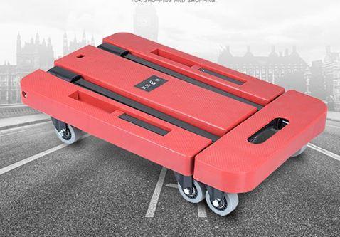小拉車小拖車搬運手推車折疊平板拉貨車手拉車家用便攜行李車靜音拉桿車