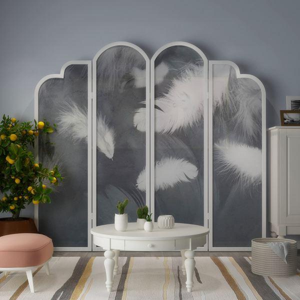 屏風現代北歐屏風花型實木屏風隔斷歐式入戶玄關客廳落可移動歐式折屏