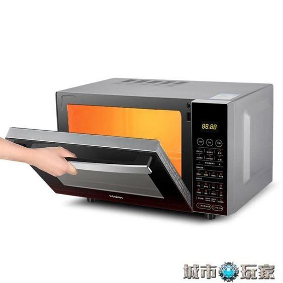 微波爐Haier/海爾MZK-2380EGCZ微波爐家用烤箱一體智慧平板燒烤光波爐220V下標